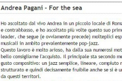 Recensione FOR THE SEA tnt-1